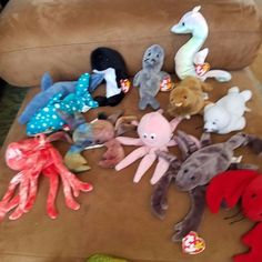 Ty Beanie Babies Sea Creatures Lot of 11 Fish Maine life #Ty
