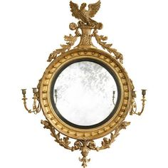Large Regency Convex Mirror sign me up plz Convex Mirror, Sofa Shop, Vintage Sofa, French Country House, Modern Chairs, Modern Mirrors, Antique Mirrors, Decoration, Regency
