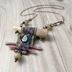 Jewelry OFF! Nomadic Scroll Necklace Silk Wrapped Antler Necklace in Blue and Green with Jade Antler Jewelry, Driftwood Jewelry, Antler Necklace, Boho Jewelry, Jewelry Crafts, Jewelry Art, Beaded Jewelry, Jewelery, Jewelry Design