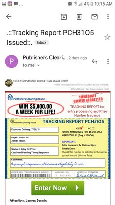 Milled has emails from Publishers Clearing House . Instant Win Sweepstakes, Online Sweepstakes, Lottery Winner, Lottery Tickets, Helping Other People, Helping Others, Lotto Winning Numbers, Promotion Card, Investing Apps