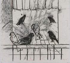 William Kentridge, Drawing from 'Learning the Flute' (Birds), 2003 Plant Painting, Painting & Drawing, William Kentridge Art, Drawing Sketches, Art Drawings, Bird Sketch, South African Artists, A Level Art, Famous Art