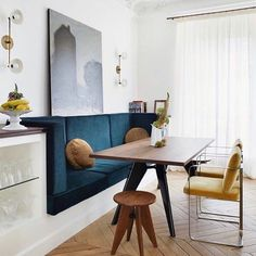 [New] The 72 Best Home Decor Ideas Today (with Pictures) Living Room - Redefining the kitchen nook. Design by . Dining Nook, Dining Room Design, Design Kitchen, Dining Table, Dining Chairs, Küchen Design, House Design, Interior Architecture, Interior Design