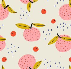 Valentine's Day inspired pattern by Pace Creative Design Studio Fruit Pattern, Pattern Art, Abstract Pattern, Surface Design, Textures Patterns, Print Patterns, Japanese Patterns, Pattern Illustration, Repeating Patterns