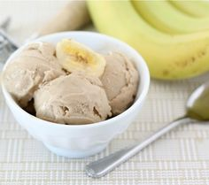 TWO ingredient banana peanut butter ice cream!