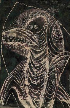 Simon Hantai: Bird 1950