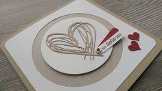 """Liebe & Freundschaft - Karte """"Ich liebe Dich"""", Danke, Freundschaft, Neu - ein Designerstück von Mein-Kreativpoint bei DaWanda"""