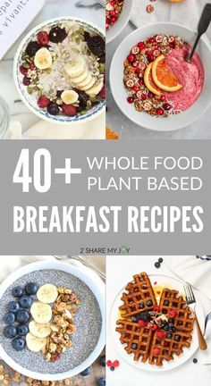 Healthy vegan breakfast recipes. Try the omelette or tofu scramble for extra plant based protein. Vegan Breakfast Options, Healthy Vegan Breakfast, High Protein Vegan Recipes, Vegan Meals, Vegan Waffle Recipe Easy, Vegan Food Pyramid, Almond Butter Smoothie, Plant Based Breakfast, Tofu Scramble