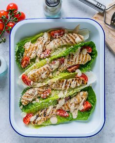 So refreshing, light and protein rich = Clean Eating in style and great for everyone! These are also fun for outdoor patio/picnic parties Makes about 8-10 wraps/4-5 servings Ingredients: 1 Head Romaine Lettuce 1.2 lbs. Chicken Tenders 1.5 cups Cherry Tomatoes, sliced 1/4 Cup Parmesan Cheese –...