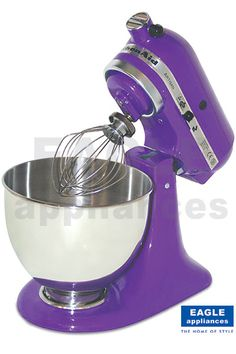 Purple Mixer for making purple food ~ I Soooooo want this! I don't really care if it coordinates with my kitchen colors :-)