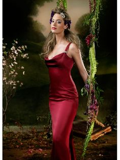 Column Passionate Red Floor Length Sweetheart Straps Bridesmaid Dress