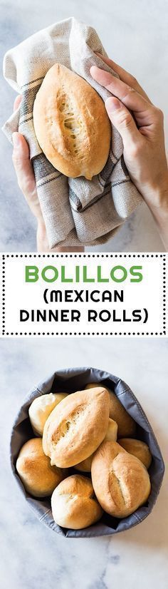 Mexican Dinner Rolls or Bolillos are the number 1 sold bread in Mexico City. The… Mexican Dinner Rolls or Bolillos are the number 1 sold bread in Mexico City. They are probably every Mexican's second favorite carbohydrate after tortillas. Mexican Sweet Breads, Mexican Bread, Mexican Dishes, Mexican Pastries, Mexican Zucchini, Mexican Breakfast, Authentic Mexican Recipes, Mexican Food Recipes, Dessert Recipes