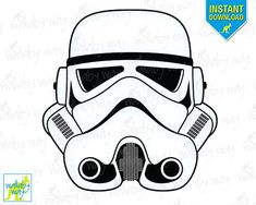 Star Wars STORMTROOPER Digital Design - DIY Printable Iron on Transfer - DIGITAL DOWNLOAD - Great for Star Wars Birthday Parties and crafts  • • •
