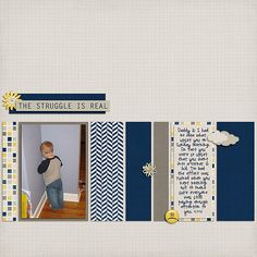 Upset ~ Template & kit, You Had a Bad Day, both by Shel Belle Scraps.