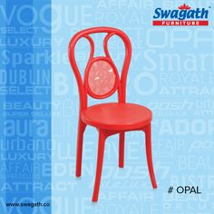 OPAL #chair which is molded in 100% virgin polymers and an attractive backrest makes it inviting and comfortable. Get more information at www.swagath.co!!