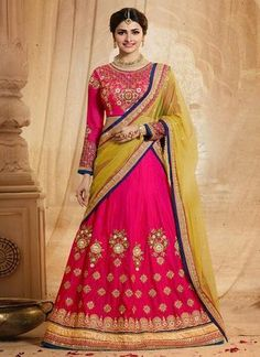 Pink Silk Best Lehengas Online Shops ,Indian Dresses - 1