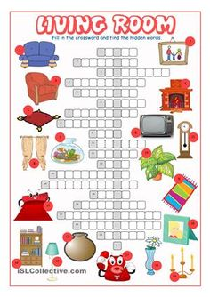 Living Room Crossword Puzzle