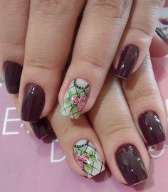 Nail Art Designs, Hair Beauty, Nails, Flower Nails, Red Toenails, Nail Hacks, Nail Design, Nail Jewels, Polish Nails