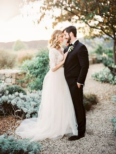 Photography : Sally Pinera | Wedding Dress : Emily Riggs Read More on SMP: http://www.stylemepretty.com/2016/01/15/ojai-winter-wedding-inspiration-pear-brandy-champagne-cocktail/