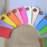 Small Colored Gift Tags - Set of 50