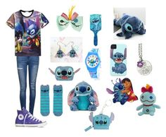 """Lilo & Stitch"" by dontcrycraft ❤ liked on Polyvore featuring Ally Fashion, Disney and Converse"