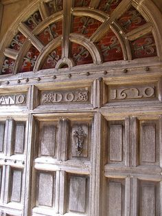 Door to Blickling Hall Norfolk, birthplace of Anne Bolyen