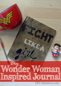 Remember to be empowered and authentic always with this DIY Wonder Woman Inspired Journal! The tough gladiatorial look is just like the new Wonder Woman!