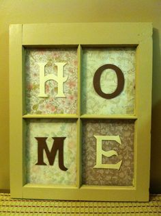 DIY Easy way to reuse an old window :)