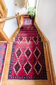 DIY Stair Runner @Curate Snacks
