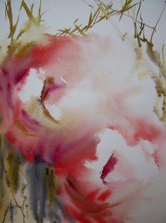 ATELIER DE LA PETITE MER - Les aquarelles d'Olivia QUINTIN en Bretagne : Vapeur de roses.