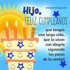 tarjeta frases saludos cumpleanos hijo Birthday Cards For Son, Happy Birthday Wishes Cards, Bday Cards, Sons Birthday, Birthday Greetings, Girl Birthday, Happy Birthday Christian Quotes, Birthday Quotes, Motivacional Quotes