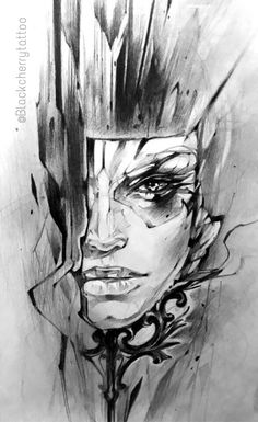 Tattoo Sketches, Drawing Sketches, Tattoo Drawings, Art Drawings, Ozzy Tattoo, Desenho Tattoo, Abstract Faces, Tattoo Studio, Sculpture Art
