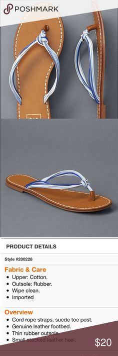 Multi Rope Flip Flops Super cute flip flops!! Leather piece around where your toes go for comfort!! GAP Shoes Sandals