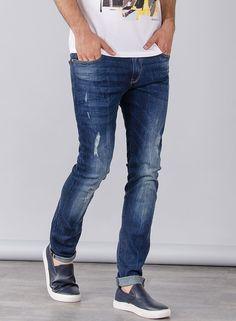 Tienda online   Moda mujer y hombre Jeans Liam super slim en color Denim oscuro de Tiffosi Tienda online   Moda mujer y hombre