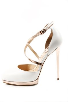"A perfect heel-to-body proportion. Love the pale pink and gold inserts to class up the ""feel"" of the shoe."