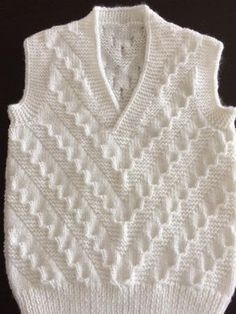 Ideas Crochet Slippers Mens Knitting Patterns For 2019 Baby Knitting Patterns, Knitting Designs, Baby Patterns, Knitting Socks, Knitting Stitches, Gents Sweater, Crochet Baby Poncho, Knitted Baby, Knit Vest Pattern
