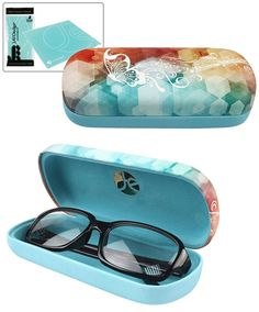 JAVOedge Butterfly Watercolor Pattern Glasses Hard Case -- For more information, visit now : Best Travel accessories for women