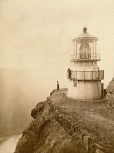 First-Order Lighthouse at Punta de los Reyes,   Seacoast of California, 296 Feet Above Sea by Eadweard Muybridge, 1871