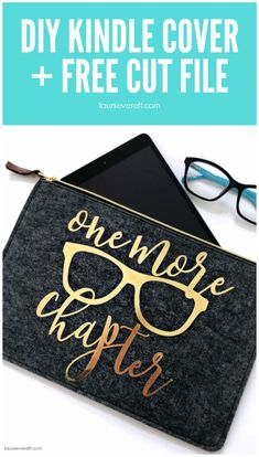 DIY Kindle Cover + Free Cut Files #cutfile #cricut #silhouette #kindlecover
