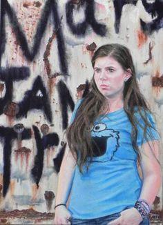 "Saatchi Art Artist Daggi Wallace; Drawing, ""Innocence Lost"" #art"