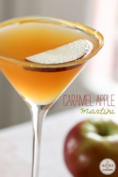 Caramel Apple Martini - the flavors a fall in a glass. Only a few ingredients needed!