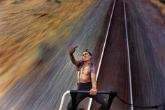 Teenage Train Hitchhikers Photo series by Mike Brodie, 2004  (please forgive the vulgarity, it's just such a cool photo)
