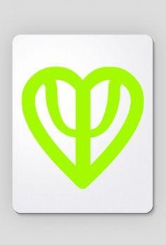 Podkładka serce limonkowa, 24,00 zł, #psychologia, #psychology, #psychopraca, #cupsell, #gifts, #prezenty, #psi #heart