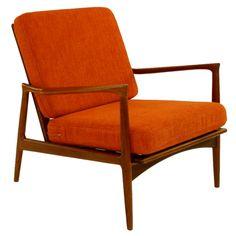 Kofod Larsen Danish Modern Teak Arm / Lounge Chair