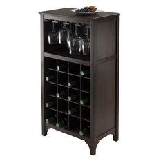 Winsome Ancona Modular 20 Bottle Tabletop Wine Cabinet