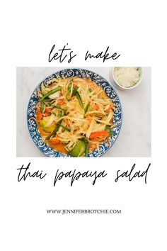 Have you ever wanted to learn how to make Som Tum (Thai Papaya Salad)? Here's an easy recipe with video tutorial to teach you how to easily make Som Tum at home. Thai Recipes, Salad Recipes, Fancy Dishes, Green Beans, Cravings, Curry, Easy Meals, How To Make, Food