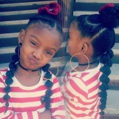 35 Amazing Natural Hairstyles for Little Black Girls – braids Lil Girl Hairstyles, Girls Natural Hairstyles, Natural Hairstyles For Kids, Kids Braided Hairstyles, 80s Hairstyles, Little Girl Braids, Black Girl Braids, Braids For Kids, Girls Braids