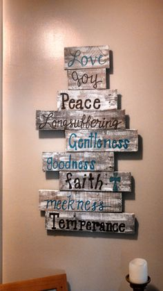 Fruits of the Spirit wooden sign by southerncutedesigns on Etsy