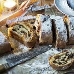 A German Christmas cake filled with marzipan and dried fruit makes a great gift and is excellent toasted for breakfast.