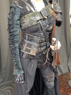 Post apocalyptic pirate (is where my imagination is going, at least)! I love where classic fantasy & post apocalyptic collide!