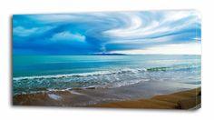 4 Sizes - Tornado Over Sea Canvas Print Wall Decor Art Giclee Beach Ocean Storm